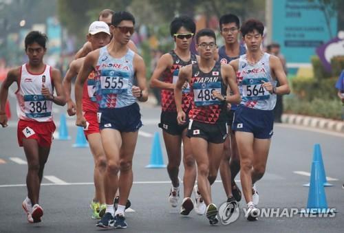 -아시안게임- 경보 김현섭·200m 김국영, 4위…한국 육상 29일은 노메달