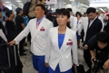 Delegación norcoreana
