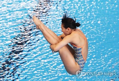 -아시안게임- 김수지, 다이빙 1m 스프링보드 동메달(종합)