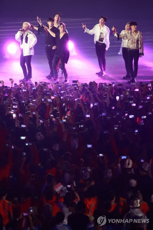 K-pop band at Asiad closing