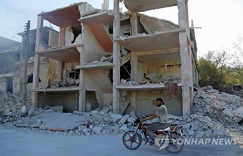 시리아 이들립의 반군지역 [AFP=연합뉴스 자료사진]