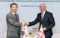MoU entre les Cours constitutionnelles Corée-Géorgie