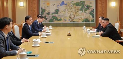 대북특사단 김정은 만남, 남북의 여유있는 미소