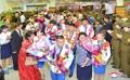 La delegación norcoreana para los JJ. AA. regresa a casa