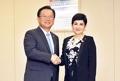 Avec la vice-présidente du Honduras