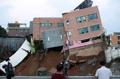 幼稚園の建物が倒壊寸前