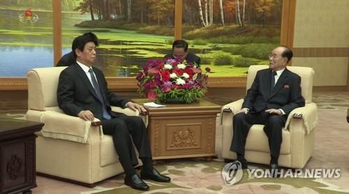 김영남, 중국 리잔수 면담