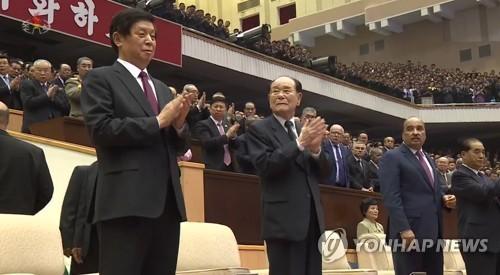 방북한 중국 리잔수, 북한 정권수립일 공연 관람