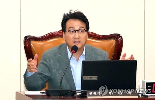 '노타이'회의 주재하는 안민석 위원장