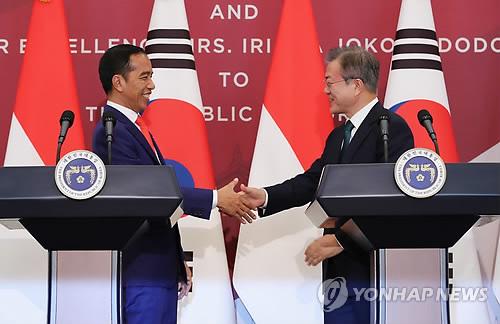 문대통령 인도네시아 매우 소중한 친구 조코위 더 강한 관계