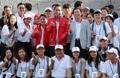 Avec des étudiants coréens et indonésiens