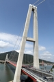 世界初の傾斜主塔つり橋