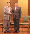 Ministres du Sport sud-coréen et japonais