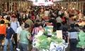 Foule sur un marché traditionnel