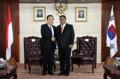Avec le président du sénat indonésien