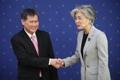 La canciller y el secretario general de la ASEAN