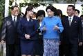 韩朝第一夫人访问平壤音乐大学