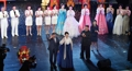 S. Korean president views Pyongyang art performance