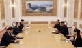 朝鮮労働党本庁で南北首脳会談