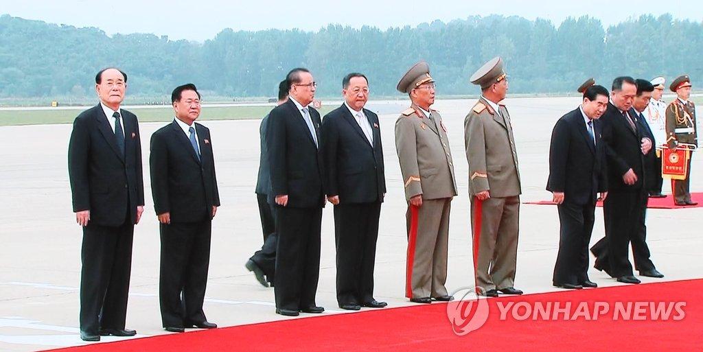 [평양정상회담] 영접나온 김영남ㆍ리선권ㆍ최룡해