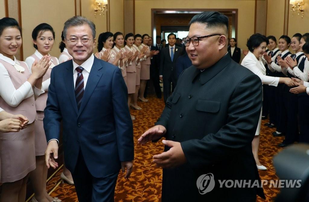 [평양정상회담] 백화원 영빈관 도착한 문재인 대통령