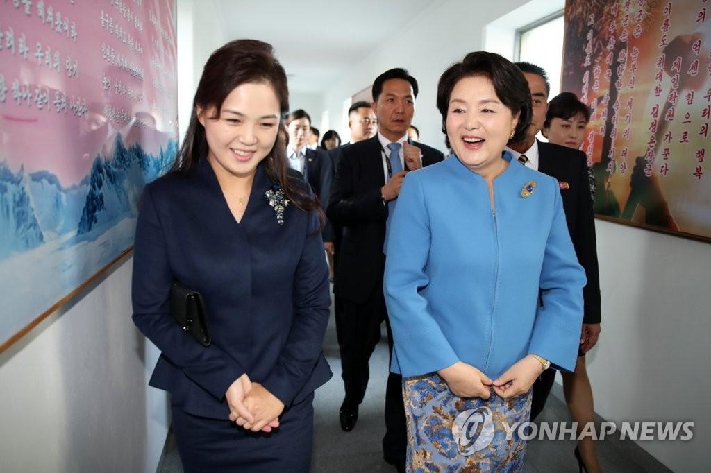 [평양정상회담] 평양 음대 방분한 김정숙-리설주 여사