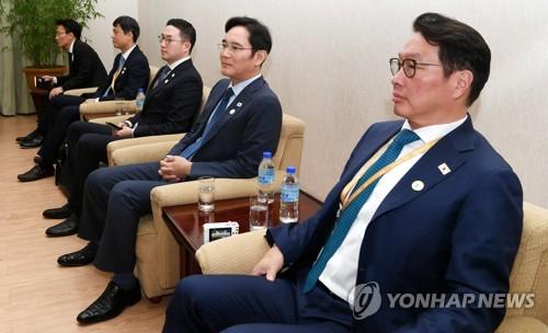 [평양정상회담] 방북 경제인들, 북한 첫 현장방문은 양묘장