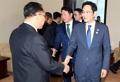 Jefes empresariales en Pyongyang