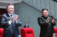 """문대통령, 15만 北주민에 연설 """"적대 청산하고 평화의 큰걸음"""""""