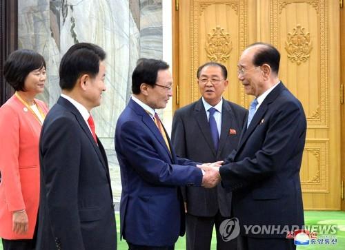 김영남 상임위원장, 여야 3당 대표 면담