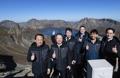 Chefs d'entreprises au mont Paekdu