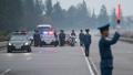 交通規制する北朝鮮要員