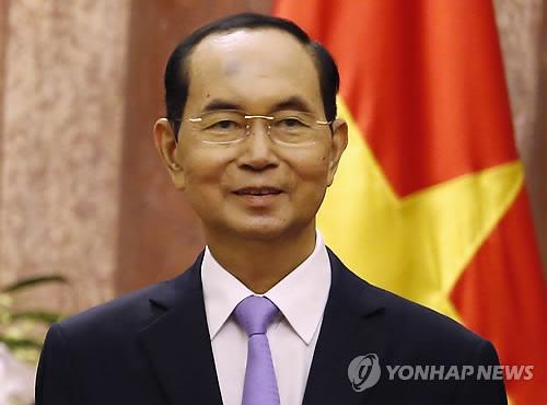 베트남 권력서열 2위 쩐 다이 꽝 국가주석 별세…향년 61세(종합2보)