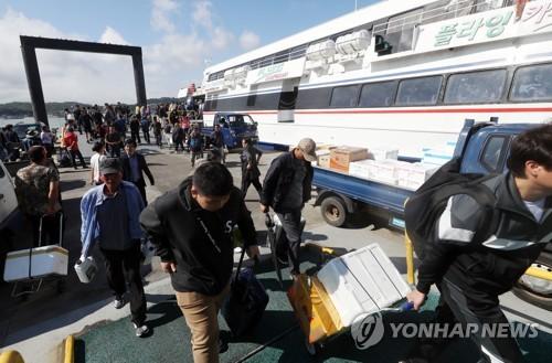 서해 바닷길 원활…인천 여객선 12개 전 항로 정상운항