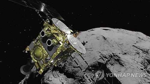 日 탐사선 '하야부사2', 소행성 '류구' 상공서 로봇 분리 성공