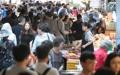 El mercado tradicional lleno por Chuseok
