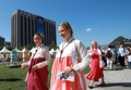 Extranjeros en 'hanbok'