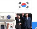 El presidente Moon parte hacia Nueva York