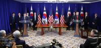 한미, FTA 개정협정 서명…문대통령·트럼프, 공동성명 발표