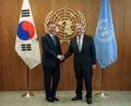 Moon y el secretario general de la ONU
