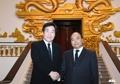 韩越总理握手