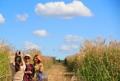 秋の公園を散策