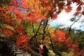 雪岳山で紅葉始まる