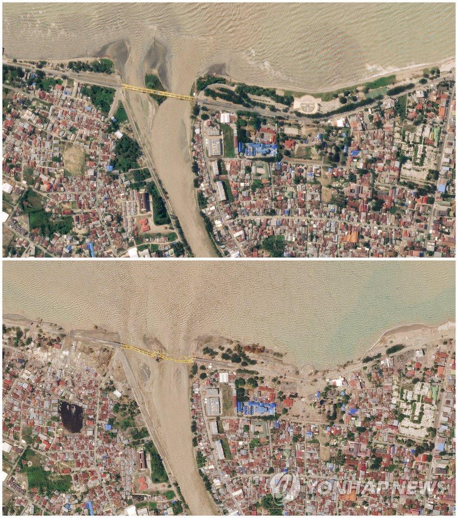 강진·쓰나미 전후로 달라진 팔루 해변