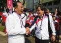 Los atletas surcoreanos y norcoreanos en Yakarta