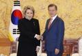 Avec la présidente du Conseil de la fédération de Russie