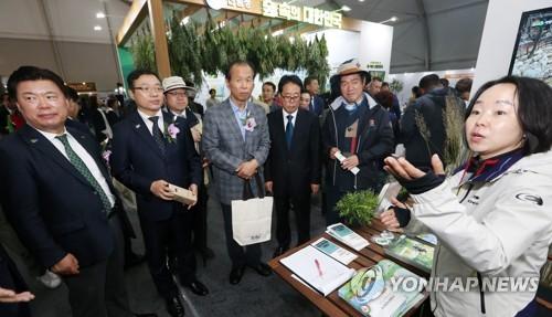 산림문화박람회 둘러보는 참석자들
