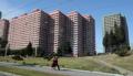 平壌市内の高層マンション