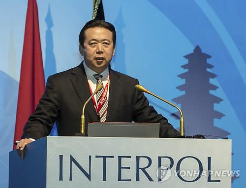 '실종' 인터폴 총재, 모국 중국서 체포 확인…총재직 사임