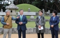 Moon à la tombe du roi Sejong